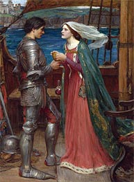 Tristan and Isolde with the Potion, 1916 by Waterhouse | Painting Reproduction