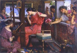 Penelope and the Suitors, 1912 by Waterhouse | Painting Reproduction