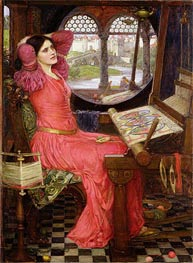 'I am Half Sick of Shadows' Said the Lady of Shalott, 1916 by Waterhouse | Painting Reproduction