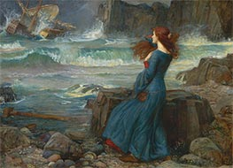 Miranda - The Tempest, 1916 by Waterhouse | Painting Reproduction