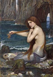 A Mermaid, 1900 by Waterhouse | Painting Reproduction