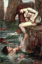 The Siren | Waterhouse | Gemälde Reproduktion