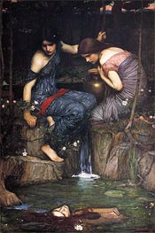 Nymphs finding the Head of Orpheus | Waterhouse | Gemälde Reproduktion
