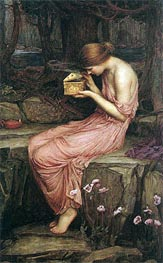Psyche Opening the Golden Box | Waterhouse | Gemälde Reproduktion