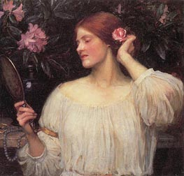 Vanity, c.1908/10 by Waterhouse | Painting Reproduction