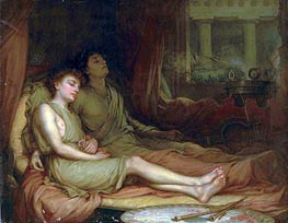 Sleep and his Half Brother Death, 1874 von Waterhouse | Gemälde-Reproduktion