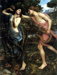 Apollo and Daphne, 1908 von Waterhouse | Gemälde-Reproduktion