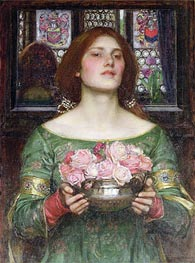 Gather Ye Rosebuds While Ye May, 1908 von Waterhouse | Gemälde-Reproduktion
