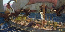 Ulysses and the Sirens, 1891 von Waterhouse | Gemälde-Reproduktion