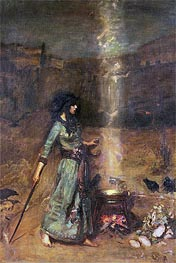 The Magic Circle, Undated von Waterhouse | Gemälde-Reproduktion