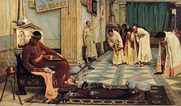 The Favourites of the Emperor Honorius, c.1883 von Waterhouse | Gemälde-Reproduktion