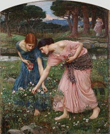 Gather ye Rosebuds while ye may | Waterhouse | Painting Reproduction