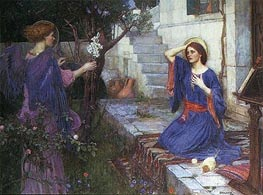 The Annunciation | Waterhouse | Painting Reproduction
