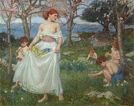 A Song of Springtime | Waterhouse | Painting Reproduction