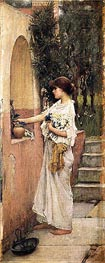 A Roman Offering, c.1891 by Waterhouse | Painting Reproduction