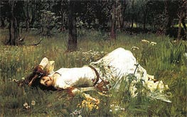 Ophelia, 1889 by Waterhouse | Painting Reproduction