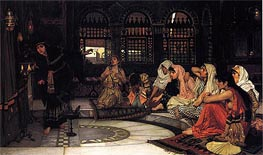 Consulting the Oracle, 1884 by Waterhouse | Painting Reproduction