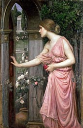 Psyche Opening the Door into Cupid's Garden, 1904 by Waterhouse | Painting Reproduction