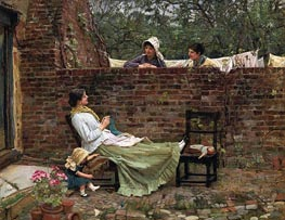 Gossip, 1911 by Waterhouse | Painting Reproduction
