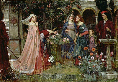 The Enchanted Garden, c.1916/17 | Waterhouse | Painting Reproduction