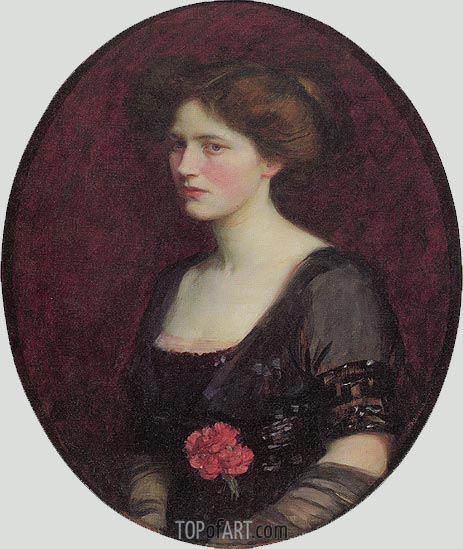 Mrs Charles Schreiber, 1912 | Waterhouse | Painting Reproduction