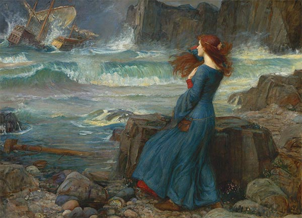 Miranda - The Tempest, 1916 | Waterhouse | Gemälde Reproduktion