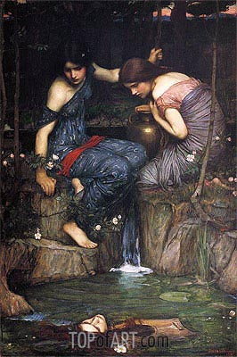Nymphs finding the Head of Orpheus, 1900 | Waterhouse | Gemälde Reproduktion
