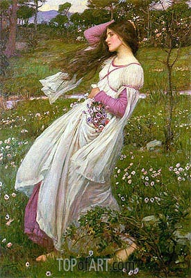 Windflowers, 1902 | Waterhouse | Painting Reproduction