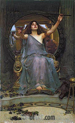 Circe Offering the Cup to Ulysses, 1891 | Waterhouse | Gemälde Reproduktion