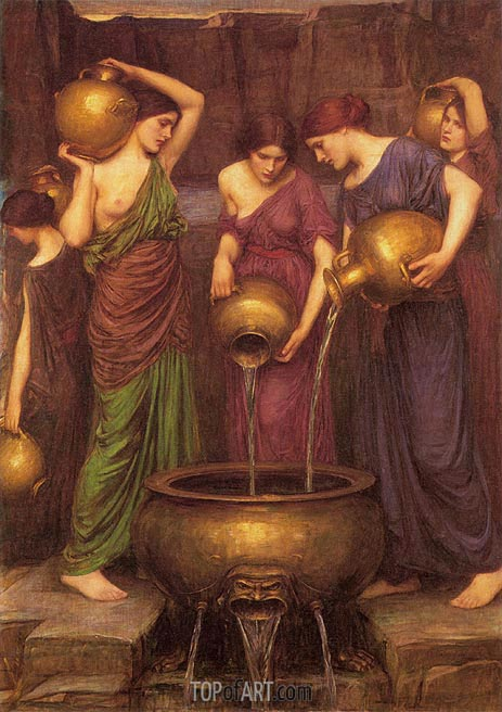 The Danaides, 1904 | Waterhouse | Painting Reproduction