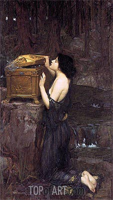 Pandora, 1896 | Waterhouse | Painting Reproduction