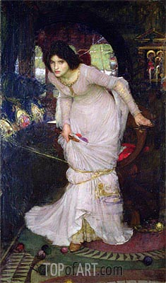 The Lady of Shalott, 1894   Waterhouse   Painting Reproduction