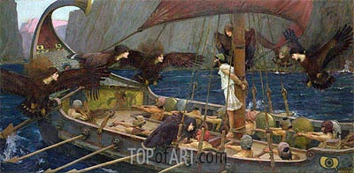 Ulysses and the Sirens, 1891 | Waterhouse | Painting Reproduction