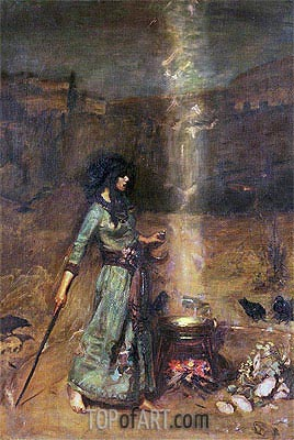 The Magic Circle, Undated | Waterhouse | Painting Reproduction