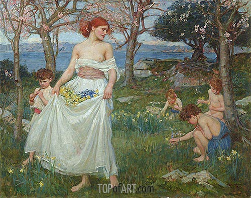 A Song of Springtime, 1913 | Waterhouse | Gemälde Reproduktion
