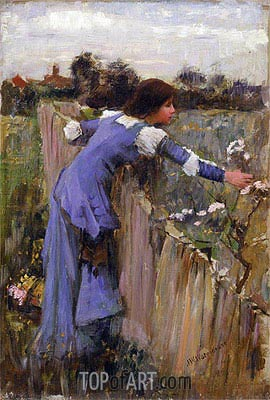 The Flower Picker, c.1900 | Waterhouse | Painting Reproduction