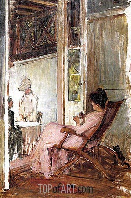 The Loggia, c.1892/93   Waterhouse   Painting Reproduction