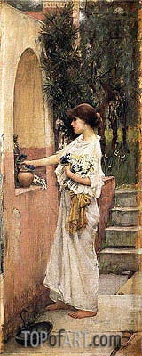 A Roman Offering, c.1891 | Waterhouse | Painting Reproduction