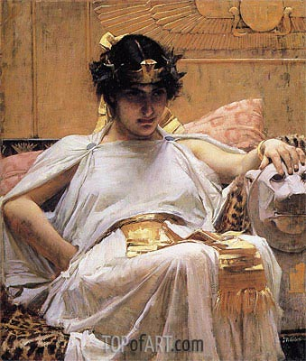 Cleopatra, 1888   Waterhouse   Painting Reproduction