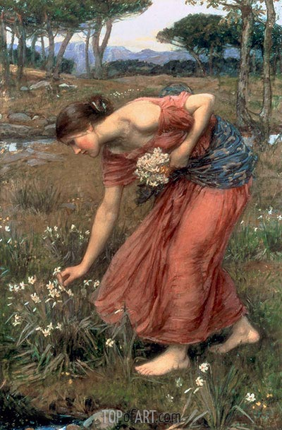 Narcissus, 1912   Waterhouse   Painting Reproduction