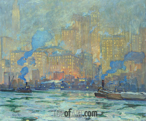 Afterglow, c.1913 | Jonas Lie | Painting Reproduction