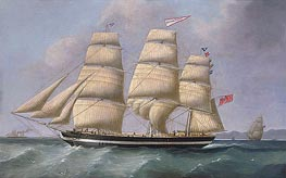 The Three-Masted Merchantman Eleanor Dixon, undated by Joseph Heard | Painting Reproduction