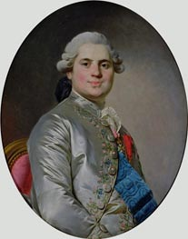 Portrait of Louis of France, Count of Provence, future King Louis XVIII, 1778 von Joseph-Siffred Duplessis | Gemälde-Reproduktion