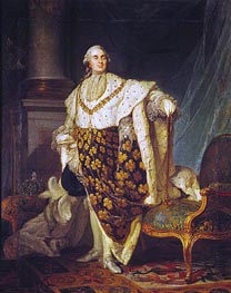 Louis XVI King of France in Coronation Robes, 1777 von Joseph-Siffred Duplessis | Gemälde-Reproduktion