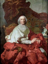 Cardinal Andre Hercule de Fleury, Bishop of Fregus and Prime Minister to Louis XV, Undated von Joseph-Siffred Duplessis | Gemälde-Reproduktion