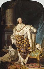Louis XVI in Coronation Robes, a. 1774 von Joseph-Siffred Duplessis | Gemälde-Reproduktion