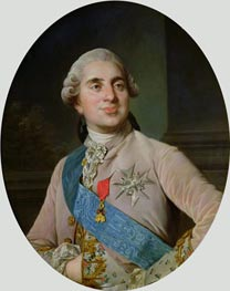 Portrait medallion of Louis XVI, 1775 von Joseph-Siffred Duplessis | Gemälde-Reproduktion