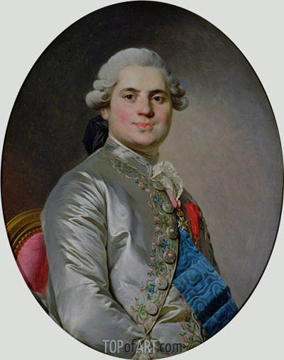 Portrait of Louis of France, Count of Provence, future King Louis XVIII, 1778 | Joseph-Siffred Duplessis | Gemälde Reproduktion