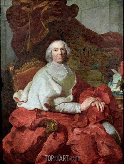 Cardinal Andre Hercule de Fleury, Bishop of Fregus and Prime Minister to Louis XV, Undated | Joseph-Siffred Duplessis | Painting Reproduction