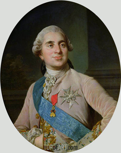 Portrait medallion of Louis XVI, 1775 | Joseph-Siffred Duplessis | Painting Reproduction
